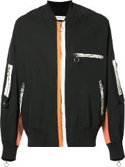 Mr Completely , Mr. Completely Multi Zip Bomber Jacket Men Cotton M, Black