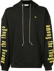 Mr Completely , Mr. Completely Printed Sleeve Hoodie Men Cotton Xl, Black