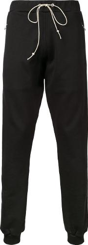 Mr Completely , Mr. Completely Zipped Pockets Drawstring Sweatpants Men Cotton S, Black