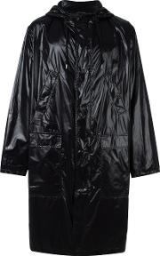 Msgm , Logo Print Raincoat Men Polyamide 48, Black