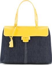 Myriam Schaefer , Two Tone Lord Tote Bag Women Cotton One Size, Blue