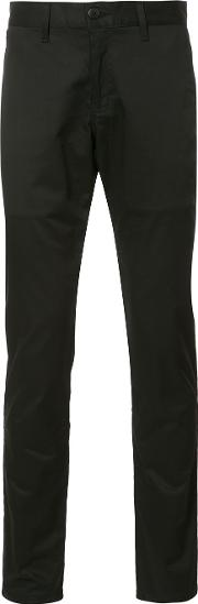 Naked And Famous , Skinny Trousers Men Cottonspandexelastane 28, Black