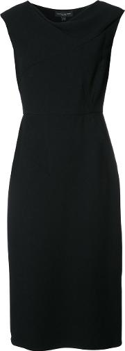 Narciso Rodriguez , Fitted Cocktail Dress Women Spandexelastane 46, Black