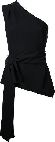 Narciso Rodriguez , One Shoulder Top Women Silkelastodienepolyamide 42, Black