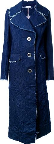 Natasha Zinko , Denim Single Breasted Coat Women Cottonpolyester 40, Blue