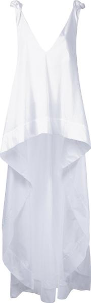 Natasha Zinko , Long Asymmetric Top Women Cotton 40, White
