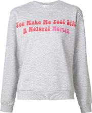 Natasha Zinko , 'natural Woman' Print Sweatshirt Women Cotton Xl, Grey