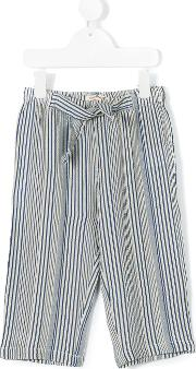 Nice Things Mini , Striped Trousers Kids Cottonlinenflaxviscose 8 Yrs, Blue