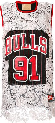Night Market , Chicago Bulls Embroidered Nba Tank Women Polyester One Size, Black