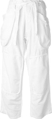 Nlst , Patch Pocket Trousers Women Cottonhemp 26, White