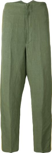 Nuur , Side Stripe Trousers Men Cottonlinenflaxviscose 48, Green