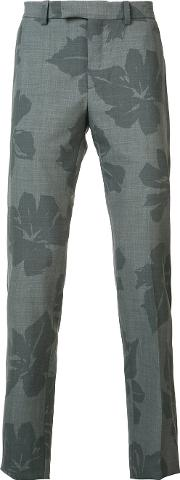 Oamc , Floral Print Chino Trousers Men Cottoncuprovirgin Wool 46, Grey
