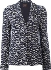 Odeeh , Knitted Fitted Jacket Women Cottonviscosepolyester 36, Blue