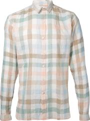 Oliver Spencer , Checked Shirt Men Cottonlinenflax 15