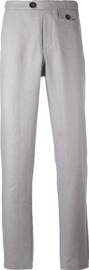 Oliver Spencer , Tab Trousers Men Cottonlinenflax 36, Grey
