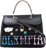 Olympia Letan , Olympia Le Tan Griffin Embr Marguerite Tote Bag Women Leathersuedepvc One Size, Black