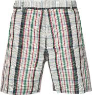Orley , Checked Shorts Men Wool L, Red