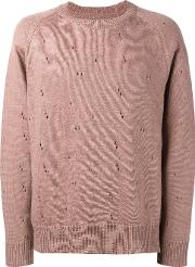 Our Legacy , Distressed Sweater Men Linenflax 52, Pinkpurple