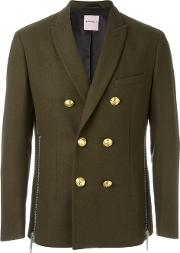 Palm Angels , Double Breasted Jacket Men Cottonpolyamideviscosewool 48, Green