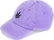 Palm Angels , Logo Embroidered Cap Men Cotton One Size, Pinkpurple