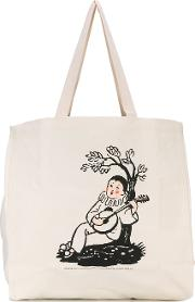 Pam Perks And Mini , Ode To Lazy Tote Women Cotton One Size, Nudeneutrals