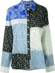 Pam Perks And Mini , Piece By Piece Shirt Women Cotton S, Blue