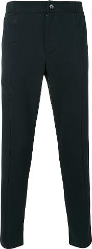 Paolo Pecora , Tapered Cropped Trousers Men Cottonpolyester S, Blue