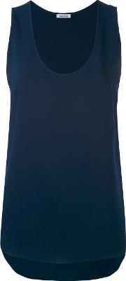 Parosh , P.a.r.o.s.h. Scoop Neck Top Women Polyester S, Blue