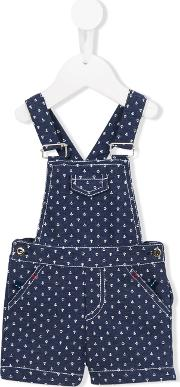 Patachou , Anchor Print Dungarees Kids Cottonpolyester 12 Mth, Blue