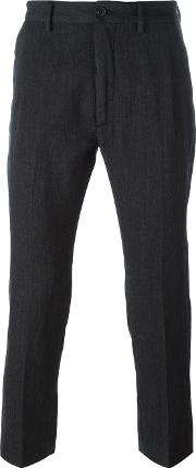 Pence , 'efrem' Trousers Men Linenflaxpolyestervirgin Wool 48, Grey