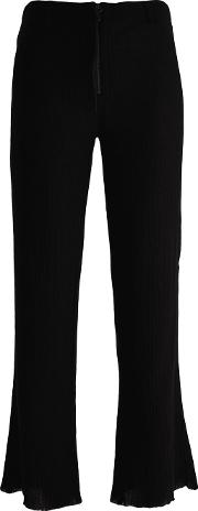 Philosophy Di Lorenzo Serafini , Flared Cropped Trousers Women Cotton 44, Black