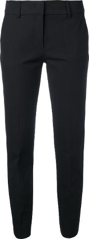 Piazza Sempione , Tailored Trousers Women Cottonspandexelastane 46, Black