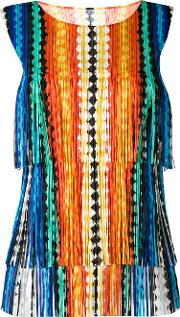Pleats Please By Issey Miyake , Fringed Top Women Polyester 3
