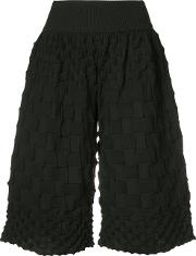 Pleats Please By Issey Miyake , Pierrot Knit Shorts Women Cottonpolyester 3, Black