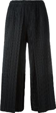 Pleats Please By Issey Miyake , Pleated Culottes Women Polyester 4, Black