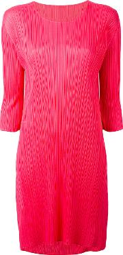Pleats Please By Issey Miyake , Pleated Shift Dress Women Polyester 3, Pinkpurple