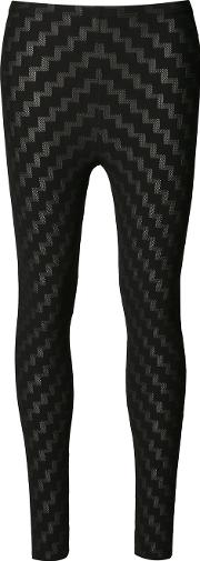 Pleats Please By Issey Miyake , Stepped Pattern Leggings Women Nylonpolyesterpolyurethane 3, Women's, Black