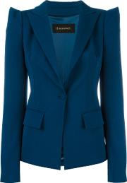 Plein Sud , Pointy Shoulders Blazer Women Polyesterspandexelastaneviscosevirgin Wool 38, Blue