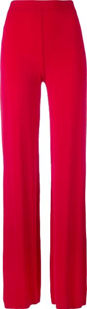 Plein Sud , Straight Trousers Women Viscosespandexelastane 40, Red
