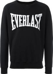 Ports , 1961 Everlast Logo Print Sweatshirt Men Cotton L, Black