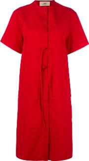 Ports , 1961 Open Back Dress Women Cotton 42, Red