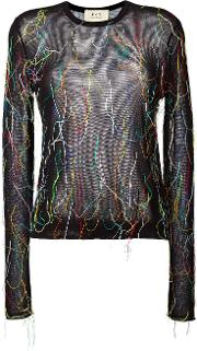 Ports , 1961 Sheer Thread Detail Jumper Women Cottonpolyester Xs, Black