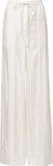 Protagonist , Drawstring Palazzo Trousers Women Viscose S, White