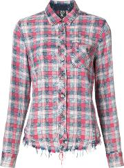 Prps , Checked Shirt Women Cottonrayon M, Red