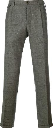 Pt01 , Cropped Tailored Trousers Men Virgin Wool 32, Grey