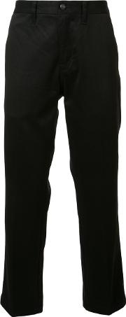 R13 , Flared Cropped Trousers Men Cotton 30, Black