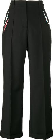 Racil , Starman Embroidered Trousers Women Polyestertriacetateviscosewool 40, Black