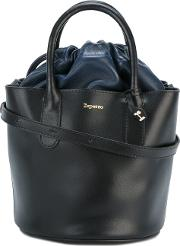 Repetto , Drawstring Bucket Tote Women Leather One Size, Black