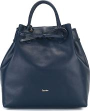 Repetto , Drawstring Tote Women Leather One Size, Blue
