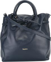 Repetto , Logo Stamp Shoulder Bag Women Calf Leather One Size, Women's, Blue